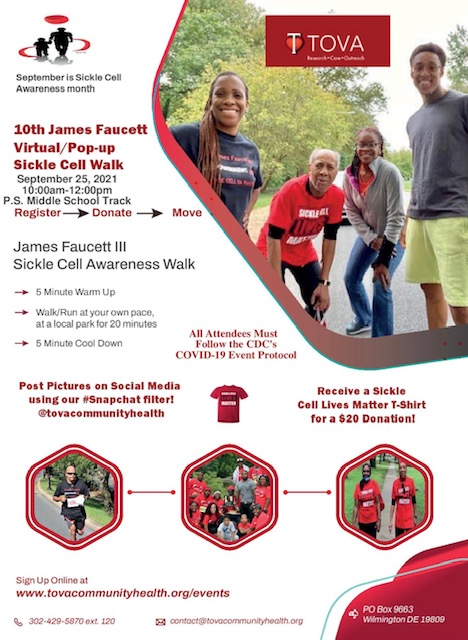 Sickle Cell Walk 2021 Flyer